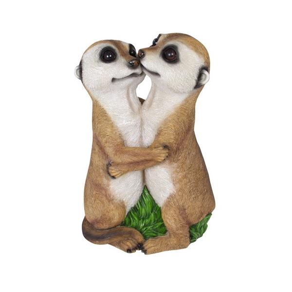 Hugging Meerkat Couple