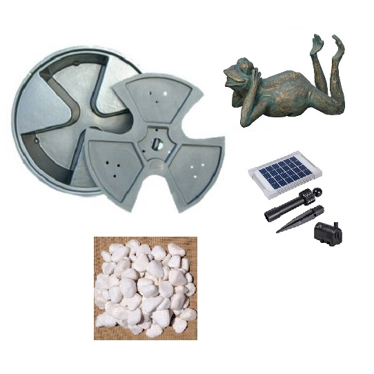 Solar Frog Water Feature Kit