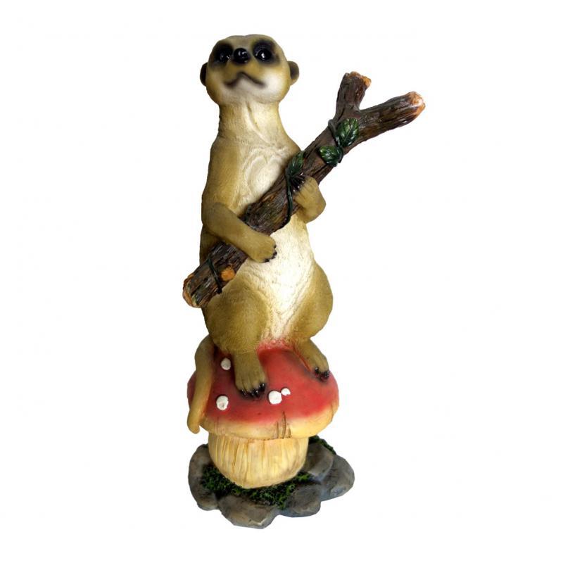 Meerkat Chilling on Mushroom